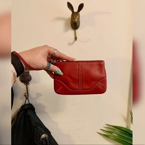 COACH | Vintage Red Leather Wristlet/Clutch